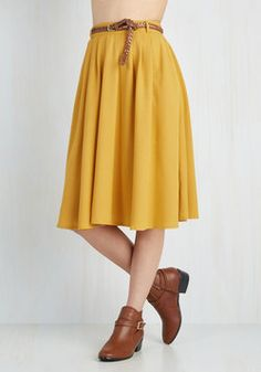 Breathtaking Tiger Lilies Skirt in Mustard. This morning, a bundle of bright…