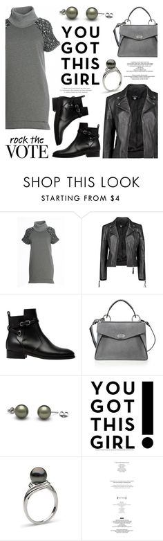 """""""Rock the Vote in Style"""" by pearlparadise ❤ liked on Polyvore featuring FRACOMINA, Boohoo, Balenciaga, Proenza Schouler, StyleNanda, contestentry, pearljewelry, rockthevote and pearlparadise"""