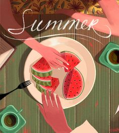 Watermelon Summer by EriCKa Lugo, via Behance