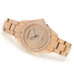 Invicta Womens Angel 3.92ctw Diamond Pave Dial & Morganite Bezel Watch w/ Travel Box