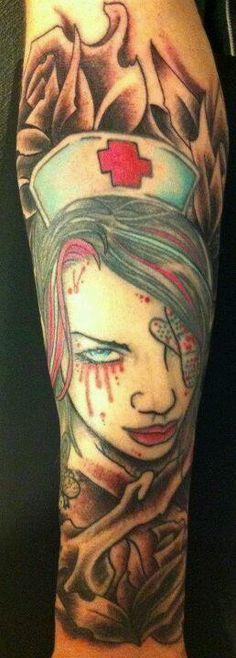 Tattooed hottie melodie gore strips