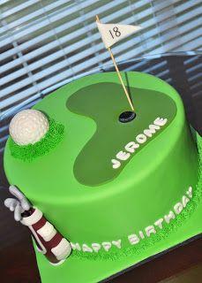 Golf Birthday Cake Cakes By Bri Something Sweet My