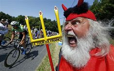 """Nice to see """"the tour devil"""" back after missing it last year.  Tour de France 2013: live"""