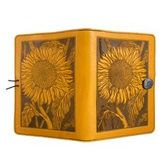 Leather Tablet Cover | Sunflower in Marigold