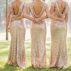 New formal evening ball gown #party prom gold #sequin bridesmaid #backless dresse,  View more on the LINK: http://www.zeppy.io/product/gb/2/391542499192/