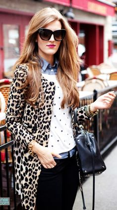 White And Black Polka Dot Top by Chic Street Style