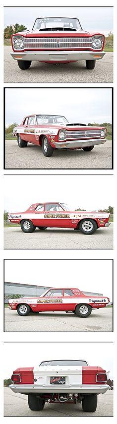 1965 Plymouth Belvedere Hemi Drag car
