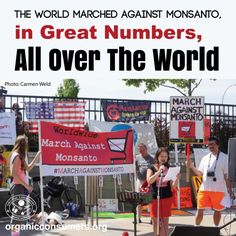On Saturday May 23, thousands of people from 400 cities worldwide were united as they marched with the same objective: To stop Monsanto from poisoning our planet and our people.   #MonsantoMakesUsSick #MarchAgainstMonsanto