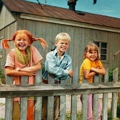 Pippi, Tommy, and Annika Cartoon Cartoon, Good Old Times, The Good Old Days, Nostalgia, Pippi Longstocking, Old Tv, New Hobbies, Back In The Day, Good Movies