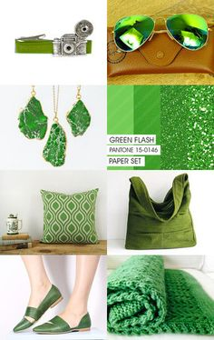 Summer 2016 Colors - Green Flash by Lena on Etsy--Pinned with TreasuryPin.com