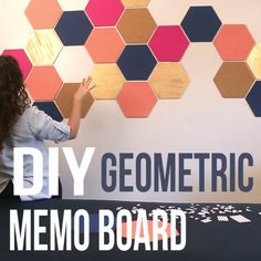 DIY Geometric Memo Board w triangles may b what if i go full primaries for my dorm room Memo Boards, My New Room, My Room, Dorm Room, Home Decoracion, 3d Home, Dorm Life, Dorm Decorations, Classroom Decor