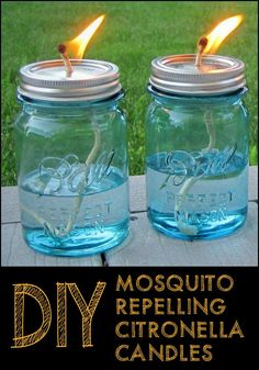 Make Your Own Mosquito Repelling Citronella Candles