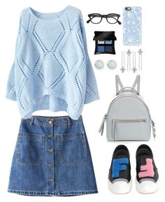 """casual's sad"" by nessacisamis ❤ liked on Polyvore featuring Chicnova Fashion, Fendi, Accessorize, Casetify, Illamasqua and J.Crew"