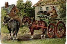 Victorian farm scene, horse drawn wagon clipart, old fashioned farmer, vintage farm clip art free, coal wagon image Horse Drawn Wagon, Silhouette Clip Art, Vintage Farm, Vintage Clip, Vintage Gifts, Farm Art, Country Scenes, Vintage Images, Vintage Pictures