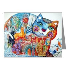 Hebrew cat Note Cards (Pk of 20)
