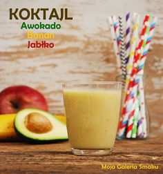 Koktajl awokado-jabłko-banan Homemade Protein Shakes, Easy Protein Shakes, Protein Shake Recipes, Healthy Recipes, Smoothie Drinks, Healthy Smoothies, Healthy Lunches, Jacque Pepin, Weight Loss Smoothies