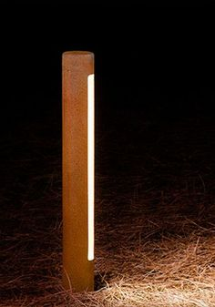 Liked on Pinterest: Trac -  BOLLARD LIGHT - garden bollard light - bespoke outdoor lighting - modern bollard lights - decking leds