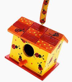 Ladybug Birdhouse with #yellow (and some red, orange, and licorice for good measure) #lemon