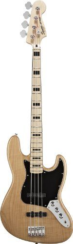 Squier by Fender Vintage Modified Jazz Bass Guitar - 70′S, Natural