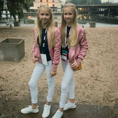 Iza and Elle. I have no idea how to tell them apart, someone please comment if you know!