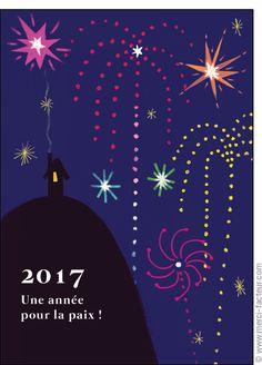 Cette carte vous plait ? Profitez-en tant qu'il est encore temps de souhaiter une bonne année 2017 à vos amis avec une jolie #carte envoyée par La Poste en quelques clics ! #voeux #BonneAnnée #voeux2017 #amour #love #paix #peace #paz  Carte Le feu d'artifice de la paix pour envoyer par La Poste, sur Merci-Facteur !