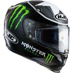 Casque HJC RPHA10 Ben Spies Monster Replica MC-5 Black Motorcycle Helmet 1dbeedce8b9