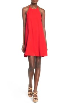 High Neck Trapeze Dress (New Tomato) | Nordstrom