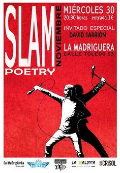 Cartel para Slam Poetry. Realizado por Paco Carrión.