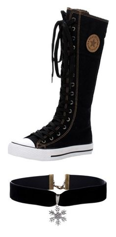 """My Easter Wishlist"" by angel-wwe-forever ❤ liked on Polyvore featuring shoes, converse, sneakers, boots, jewelry, necklaces, choker, accessories, black and velvet choker"