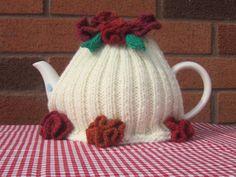 Summer Garden Tea cozy Tea cosy.  Tea Cozy.  by yarnawayknits, £15.00