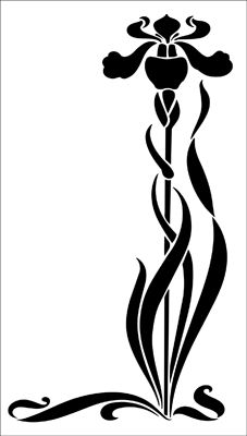 Motif No 67 stencil from The Stencil Library ART NOUVEAU range. Buy stencils online. Stencil code DE257.