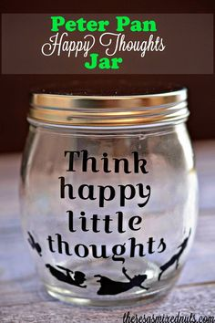 """Make a """"Happy Thoughts"""" jar to store all of your trinkets and treasures you collect throughout the year. Pull them out on  New Year's Eve to reflect on all of your happy moments you had the whole year through."""