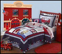 Fire truck bedroom on pinterest fire truck beds fire for Fire truck bedroom ideas