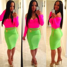 Love The Colors Green Fashion Diva Office Skirt Cute