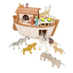 Holztiger Noah's Ark - Noah's Forest Friends Bath Toys For Toddlers, Toddler Boy Toys, Kids Toys, Baby Learning Toys, Wooden Toy Cars, Best Baby Toys, Wooden Animals, Baby Rattle, Pet Toys