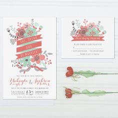 """Beautiful unique design """"Eat and be married"""" wedding invitations by invitingMoments via Etsy. Choose your color, font and lettering. #weddinginvitations"""