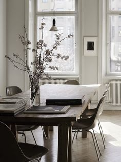 Muted colors in a Swedish home - via cocolapinedesign.com