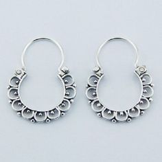 DESIGNER Flower Style SILVER HOOP EARRINGS NOW $19.95aus With FREE SHIPPING WORLD WIDE.. SAVE THIS PIN OR BUY NOW FROM LINK HERE .............................  http://www.ebay.com.au/itm/-/172309178706?ssPageName=ADME:L:LCA:AU:1123