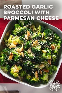 The best way to eat veggies is with cheese. Agree? Try this Roasted Garlic Broccoli with Parmesan Cheese recipe.