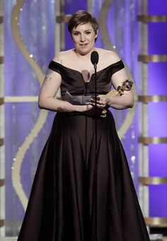 """2013 Golden Globe Awards  ( Paul Drinkwater / NBC )  Lena Dunham accepts the Golden Globe for TV comedy actress for """"Girls.""""    """"The other nominees in this category are women who have inspired me deeply,"""" Dunham said. """"This award is for every woman who's ever felt like there's not a space for her. This show has made a space for me."""""""