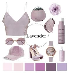 """""""Lavender"""" by trin9213 ❤ liked on Polyvore featuring Christian Dior, Sunday Somewhere, Cara, Olivia Burton, Chanel, JustFab, Fantasia, Living Proof and Davidoff"""