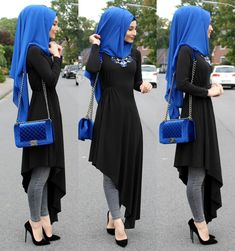 Advertisement l Advertising l advertising 💙 ————– € … – Hijab Fashion Modern Hijab Fashion, Islamic Fashion, Abaya Fashion, Muslim Fashion, Modest Fashion, Hijab Outfit, Hijab Style Dress, Hijab Chic, Stylish Dresses
