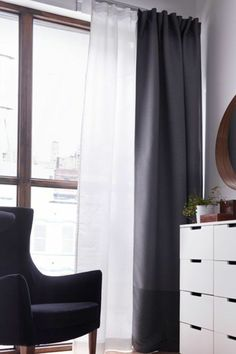 tringle rideau voilage double rideau idees pour moi pinterest salons. Black Bedroom Furniture Sets. Home Design Ideas