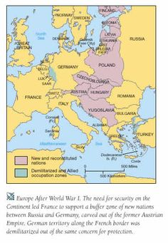 Map Of Europe After Treaty Of Versailles Map After Versailles When