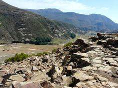 View on one of the hikes in the Lesotho Mountains with Nomad Adventure Tours Africa.