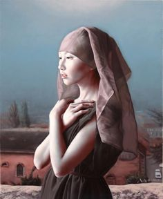Chinese art Ma Jing Hu, born in August 1974 Nanjing, Jiangsu Province, is a professional painter. In 2000 graduated from the Nanjing Art Institute. L'art Du Portrait, Portrait Paintings, Female Portrait, Female Art, Woman Portrait, Figure Painting, Painting & Drawing, Woman Painting, Kunst Online
