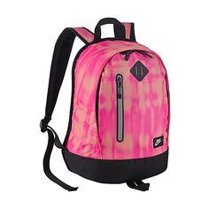 Nike Young Athletes Cheyenne Backpack ($40) ❤ liked on Polyvore featuring bags, backpacks, pink, school & day hiking backpacks, pink bag, nike, strap bag, padded backpack and nike bag