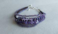 "Bracelet ""Trivioleta"", violet"