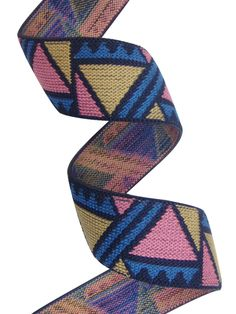 multicolored jacquard elastic with an geometric pattern