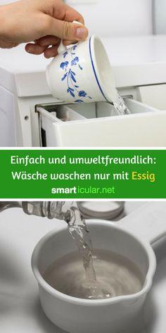 Statt Waschmittel: Mit einfachem Tafelessig kannst du genauso gut die Wäsche waschen - textilschonend, umweltfreundlich und preiswert.